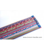 PVC coated wooden broom handle 41